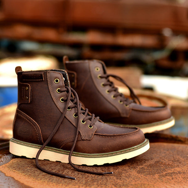 G. Heaven Classic Handmade High Top Boots Genuine Leather