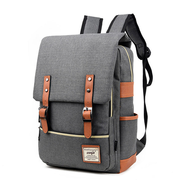 Vintage Styled Unisex Canvas Backpack
