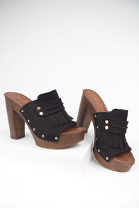 Peyton Black Clogs