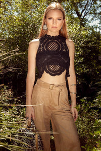 Francesca Crochet Crop Top