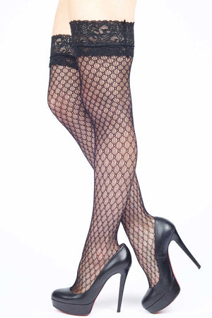 aef4482f759 Diamonds Interlink Fishnet Thigh-highs