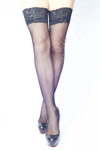 Side Butterfly Fishnet Thigh-highs