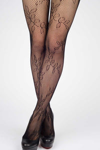 Stems of Leaves Fishnet Stockings