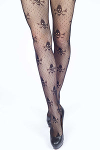 Pirate Skulls & X's Fishnet Stockings