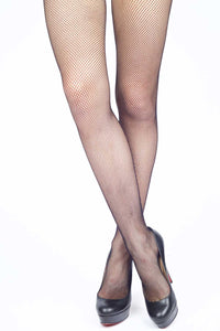 Bow Tie Backseam Fishnet Stockings