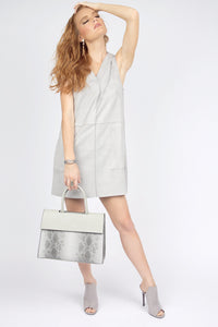 Priscilla Grey Suede Dress