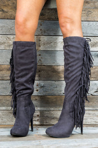 Philly Knee High Fringe Boots