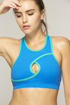 Keyhole Criss Cross Sports Bra