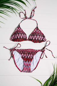 Chevron Pattern Triangle Bikinis