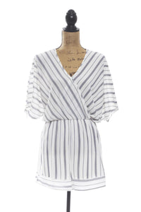 Madison Striped Romper