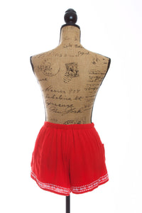 Sadie Red Shorts