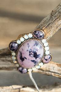 Riley Marbled Statement Ring
