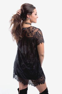 Lori Black Lace Dress