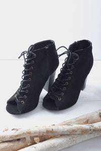 Rhea Lace Up Booties
