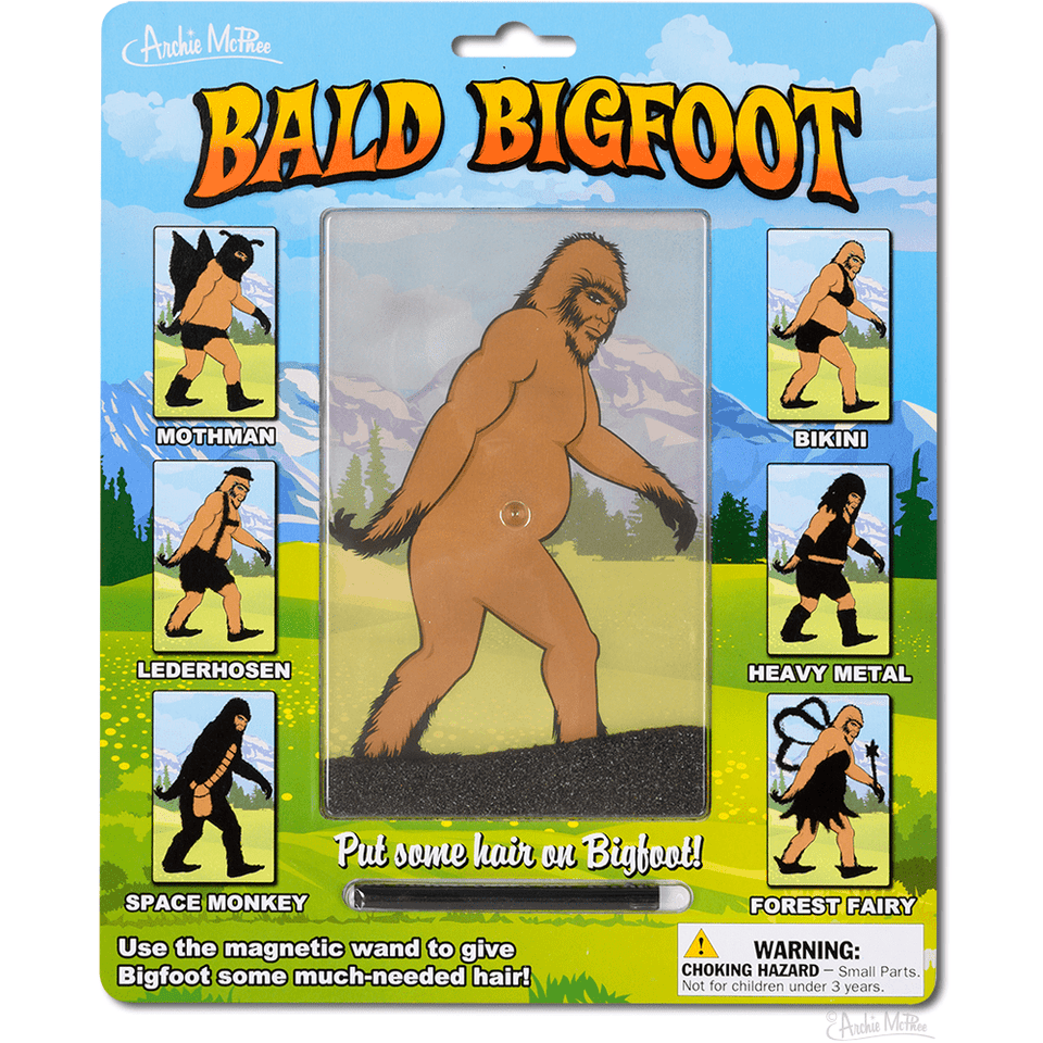 Novelty Toy Bald Bigfoot 739048129052 Archie McPhee