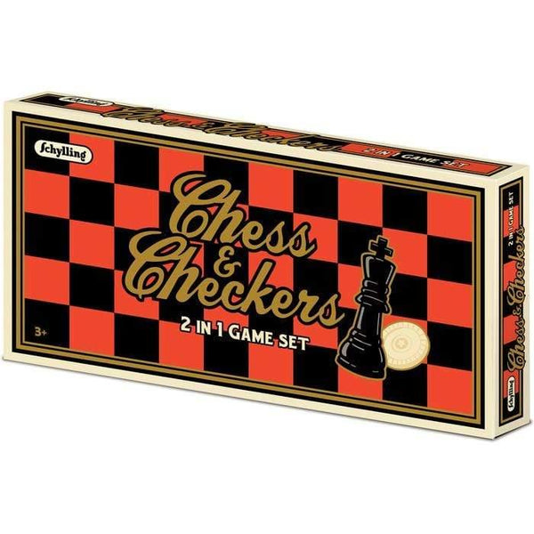 Games Chess and Checkers Set 019649235308 Schylling
