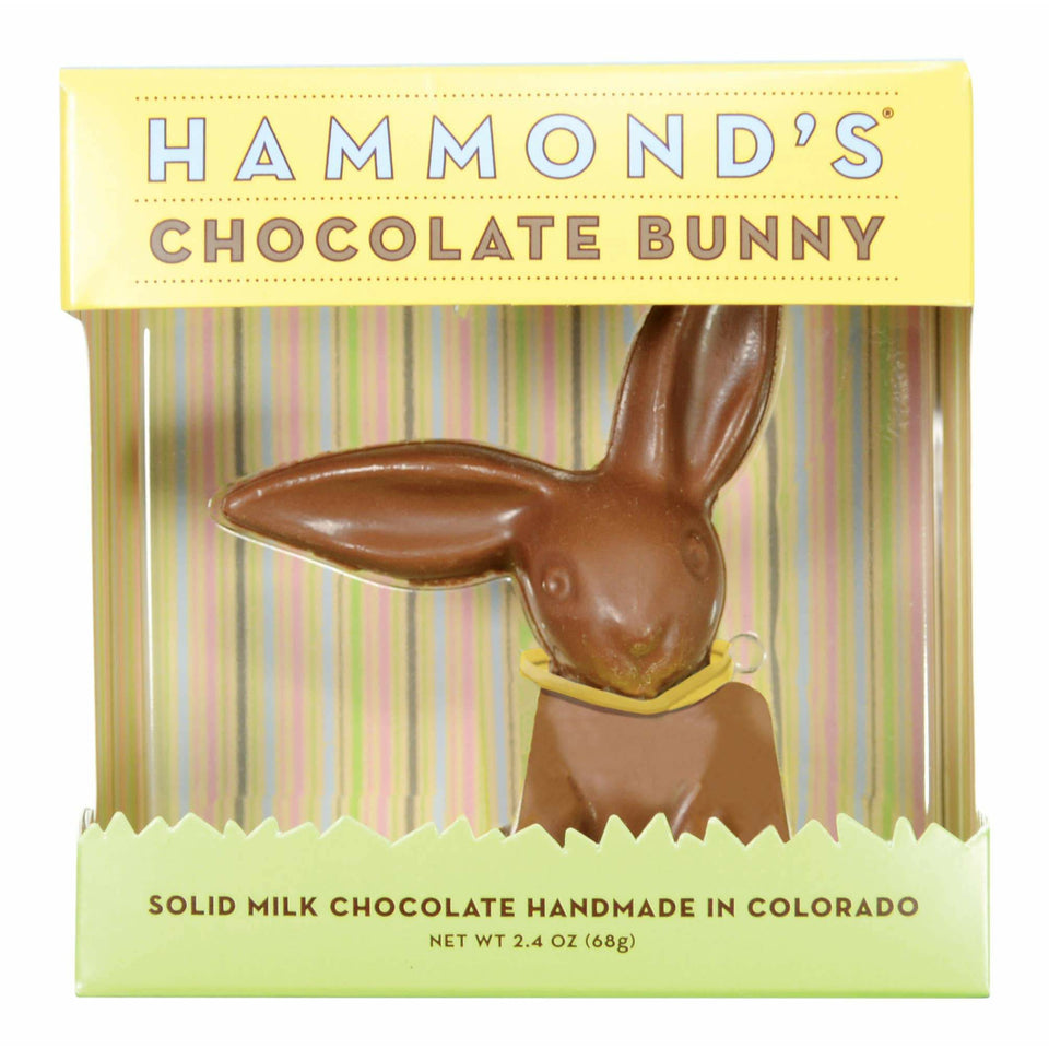 Easter Candy Chocolate Small Bunny 2.4oz Hammond's Candies