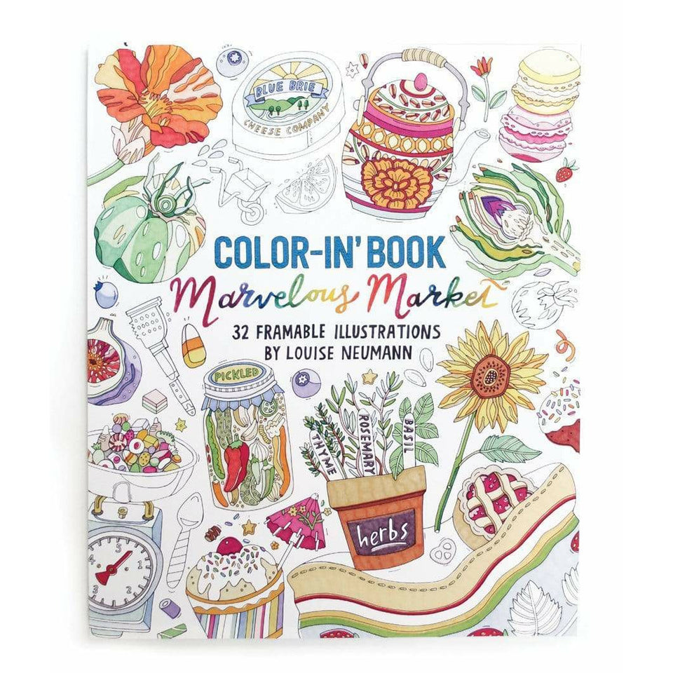 Arts and Crafts Color-in' Book: Marvelous Market 9781943498048 OOLY