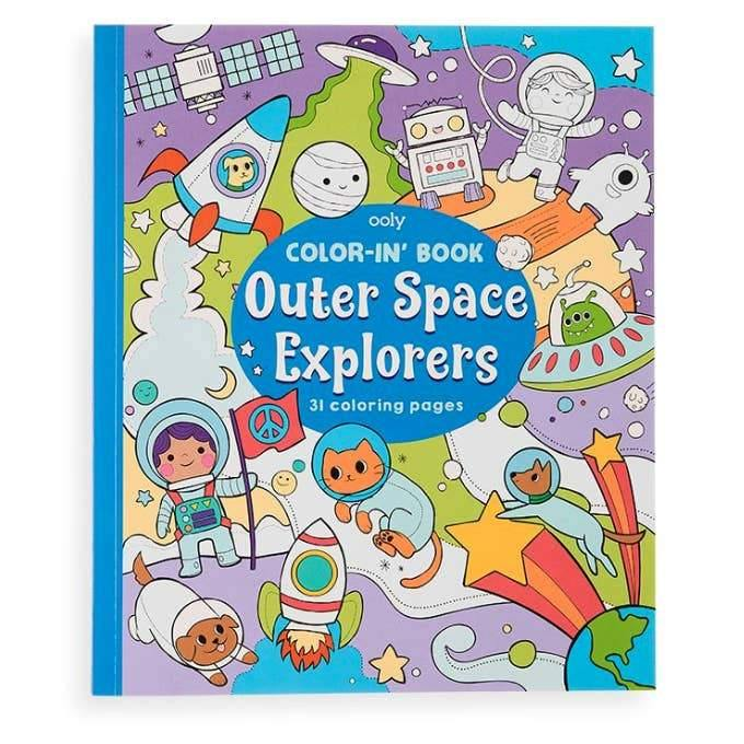 Book Color-in' Book: Outer Space Explorers OOLY