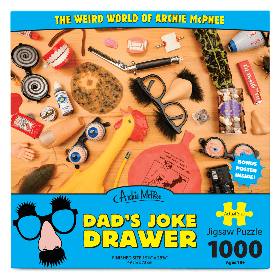 Puzzle Dad's Joke Drawer 1000 Piece Puzzle 739048129519 Archie McPhee