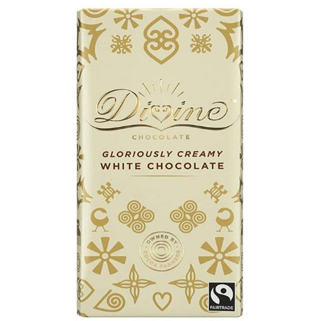 Gourmet Chocolate Bar Divine White Chocolate Bar 852749004678 Divine Chocolate