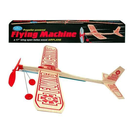 Nostalgia Toy Guillows Flying Machine Wood Airplane 072365000759 Channel Craft