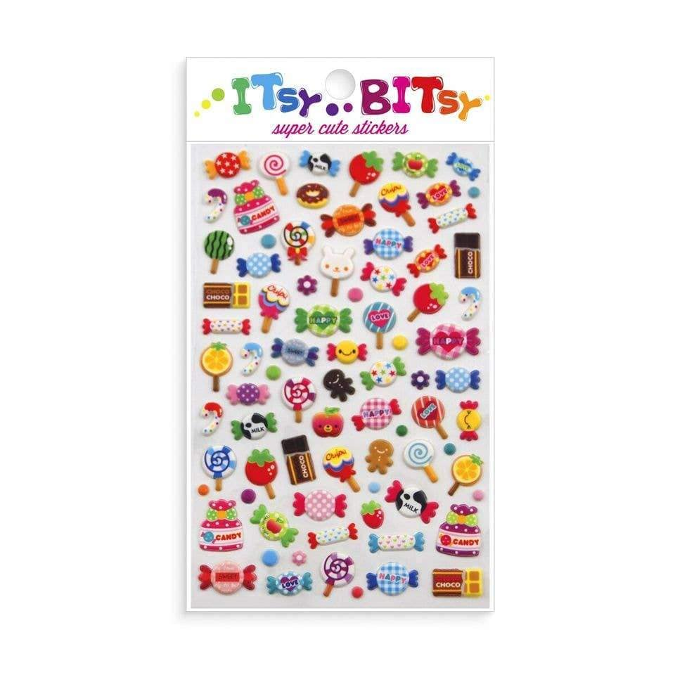 Arts and Crafts Itsy Bitsy Stickers Candy Time 879426004820 Ooly