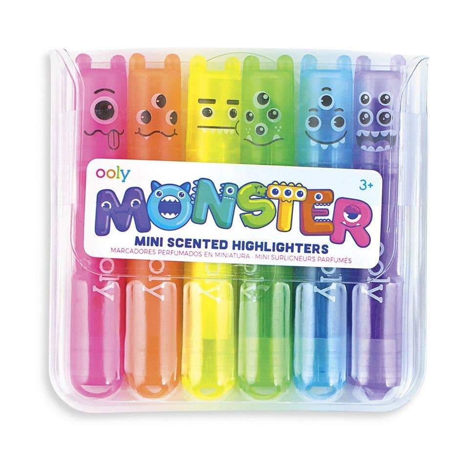 Arts and Crafts Monster Mini Scented  Highlighters 879426005186 OOLY