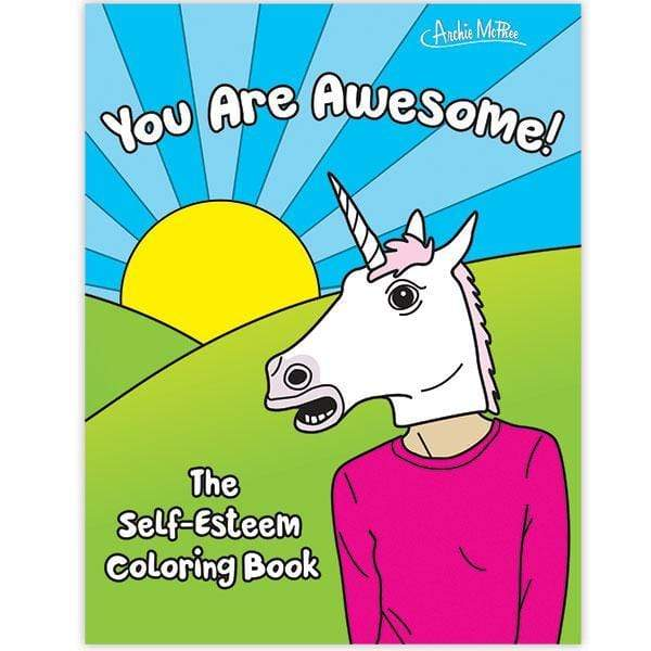 Arts and Crafts Self-Esteem Coloring Book 739048126754 Archie McPhee