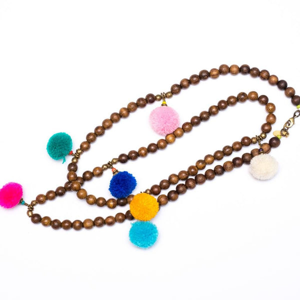 7 Pom Pom Necklace