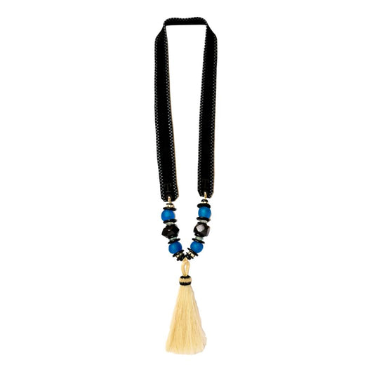Zest Marketplace Twine & Twig Panther Pride Tassel Horse Hair Necklace