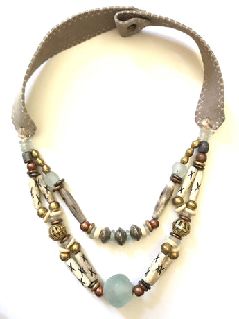 Mixed Metal Woven Classic Necklace