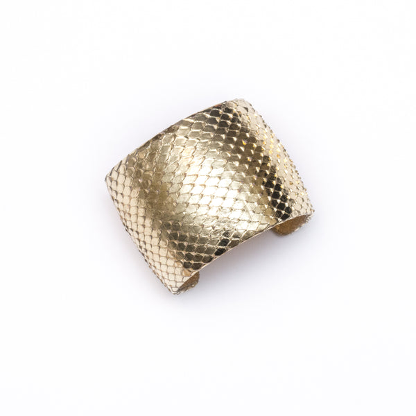 Zest Marketplace Ted Rossi Gold Python Cuff