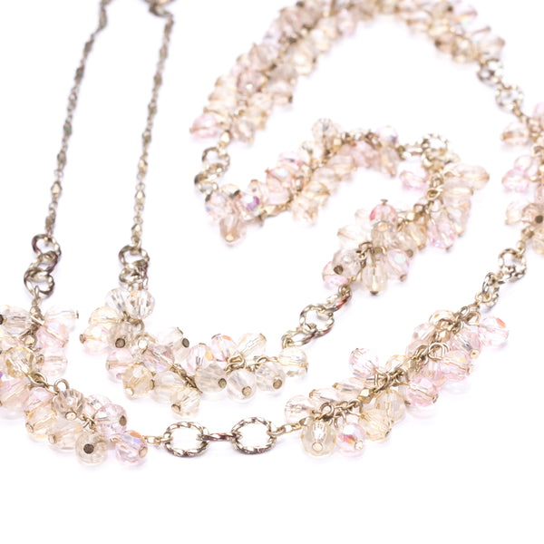 Zest Marketplace Pale Pink Beads Long Necklace