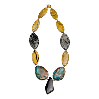 Zest Marketplace Jody Candrian natural stone necklace