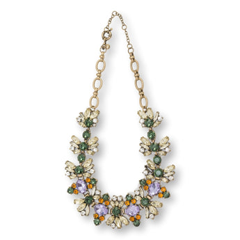 Zest Marketplace J. Crew Fall Floral Crystal Necklace