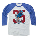 Mens Baseball T-Shirt Royal / Ash