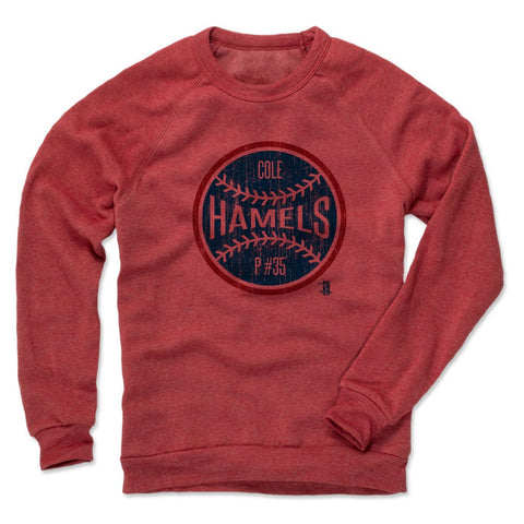 Mens Crew Sweatshirt Red