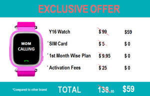 Y16 GPS Watch Package