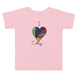 I Love College (Ruby's Rainbow) Toddler Short Sleeve