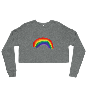 Rainbow Women's Crop Sweatshirt