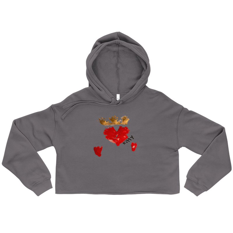 Queen of Hearts Women's Crop Hoodie