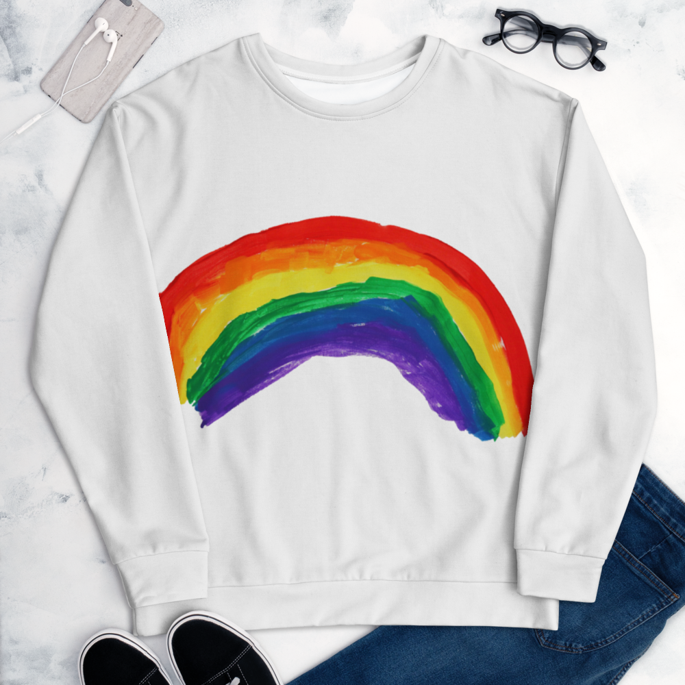 Rainbow All-Over Print Sweatshirt