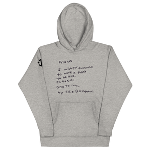 Friends (Classic Black Text) Unisex Hoodie