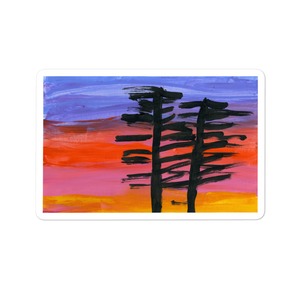 Fall Sunset Sticker