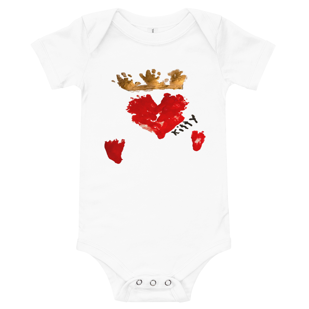 Queen of Hearts Baby One-Piece