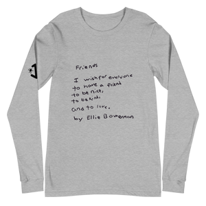 Friends (Classic Black Text) Long Sleeve
