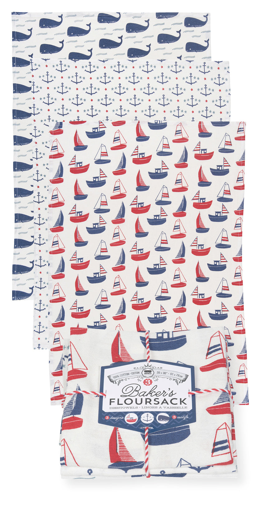 Floursack Tea Towel Set - Ahoy Matey!