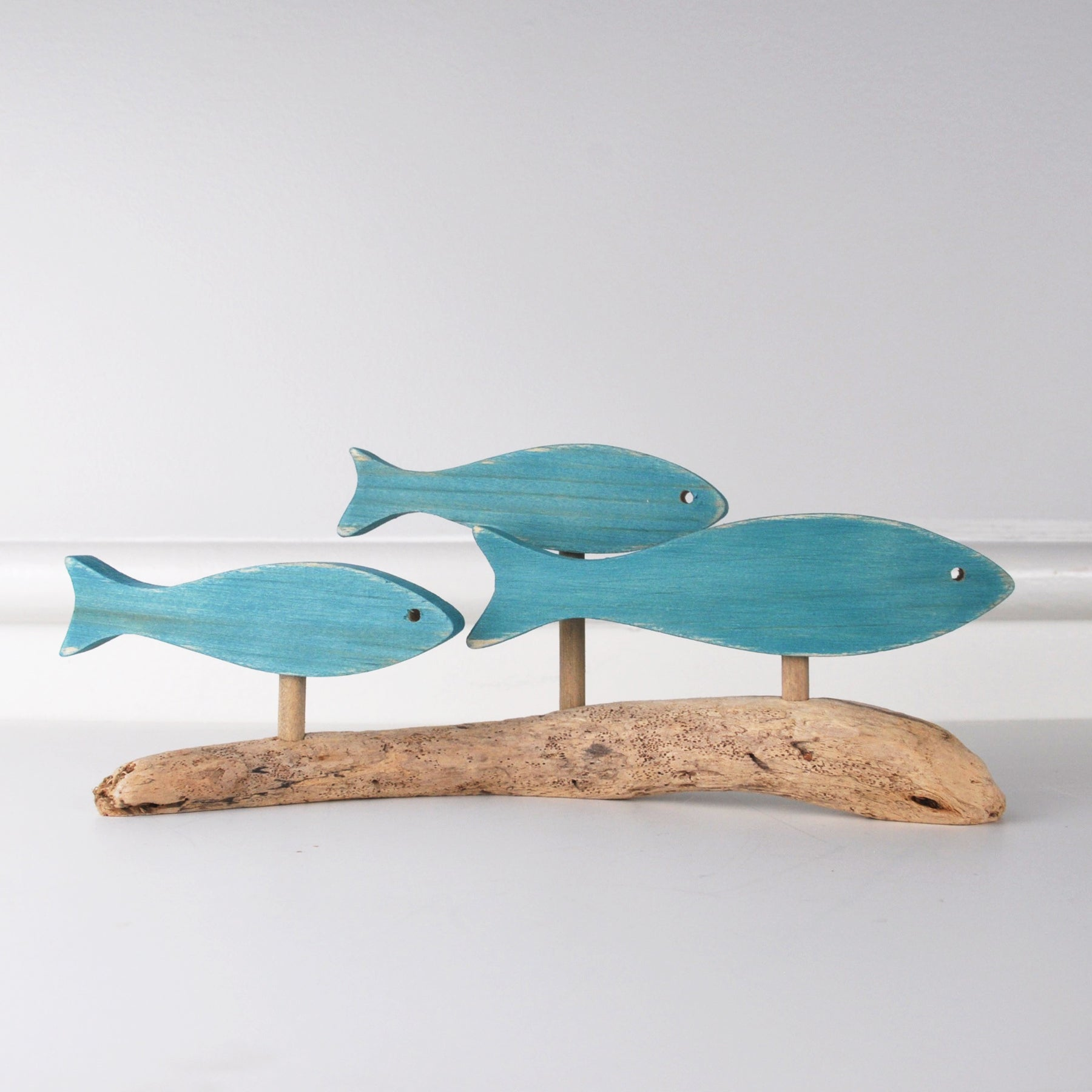 Jerry Walsh - Driftwood Sculpture - Teal