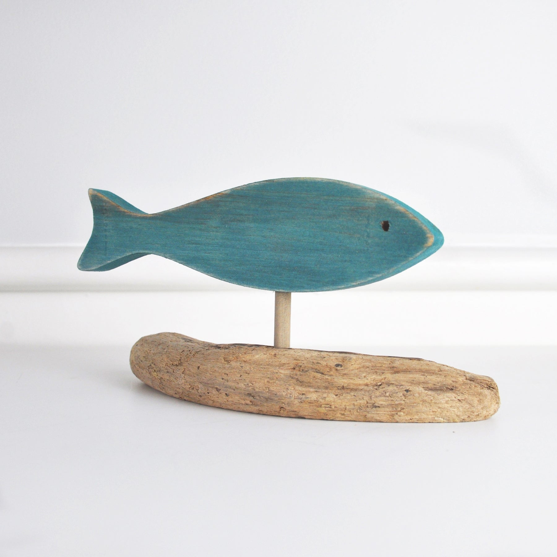 Jerry Walsh - Driftwood Fish - Teal